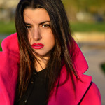 POP OF COLOR WITH A FUCHSIA COAT
